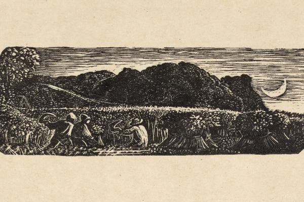Samuel Palmer, Harvest under a Crescent Moon