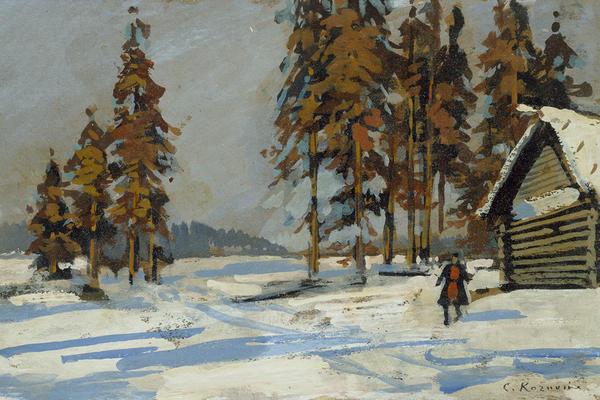 WA1960.36.4 Winter Landscape, Konstantin Alekseevich Korovin