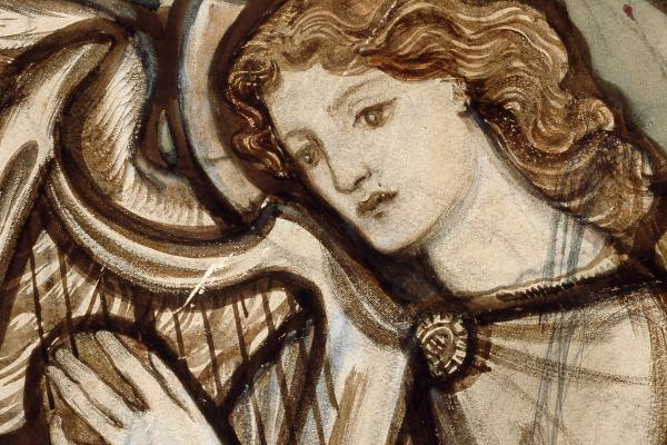 WA1978.120 Angel Harpist, Edward Burne Jones