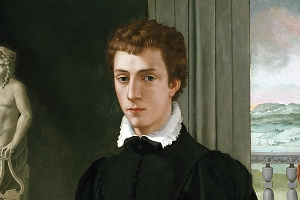portrait of a young man at the ashmolean museum