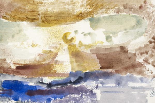 Paul Nash, The Sun Descending - Study 3, 1945