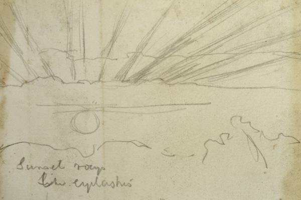 William Holman Hunt, Study of the Sky, 1875