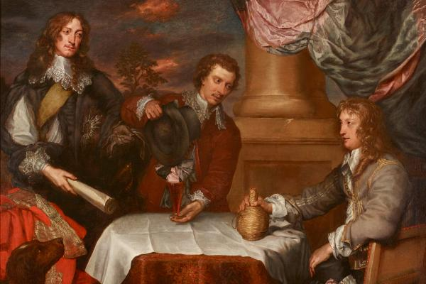 Portrait of Prince Rupert, Colonel William Legge and Colonel John Russel by William Dobson
