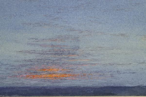 John Ruskin, Study of Dawn: The First Scarlet on the Clouds, 1868