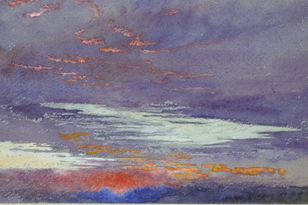 John Ruskin, Study of Dawn: Purple Clouds