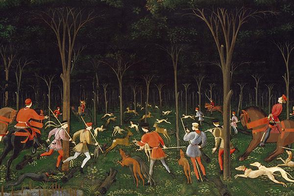 The Hunt in the Forest (detail) by Uccello