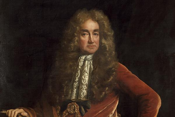 Portrait of Ashmolean founder, Elias Ashmole.
