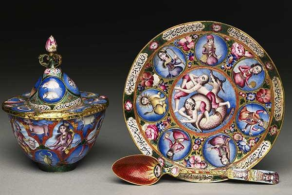 astrological tea set at the ashmolean museum