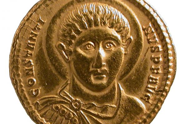 Gold coin of Constantine
