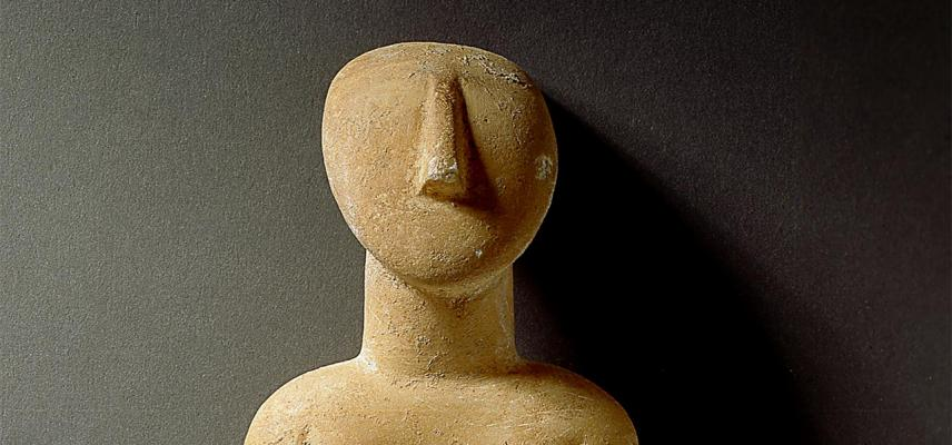 Cycladic figure.