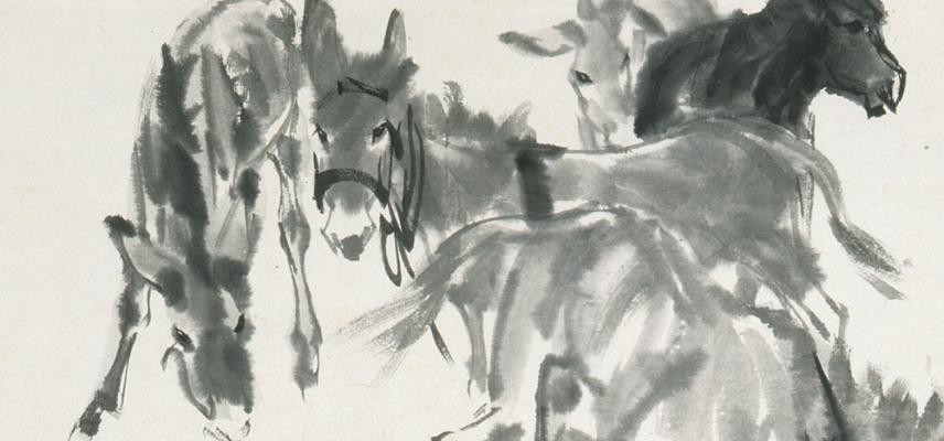 Eight Donkeys by Huang Zhou