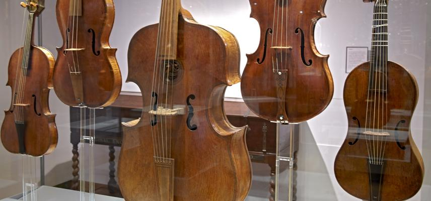 Musical Instruments Gallery at the Ashmolean Museum
