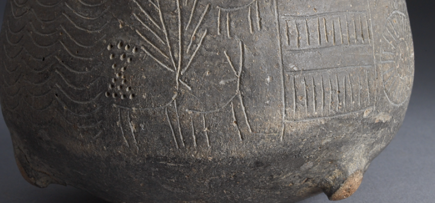 Prehistoric Deer on a Ceramic Bowl