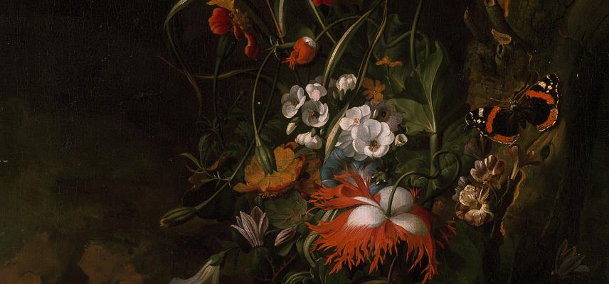 A Forest Floor Still Life of Flowers – by Rachel Ruysch – WA1940.2.64