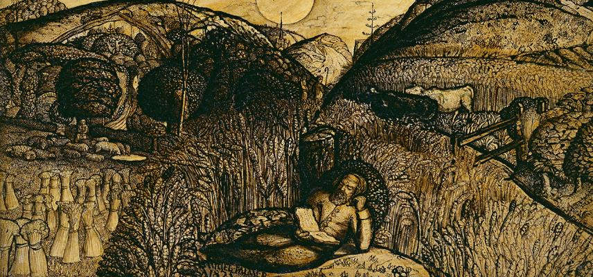 The Valley Thick with Corn by Samuel Palmer