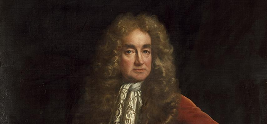 Portrait of Ashmolean founder, Elias Ashmole, Riley John, 1681-82