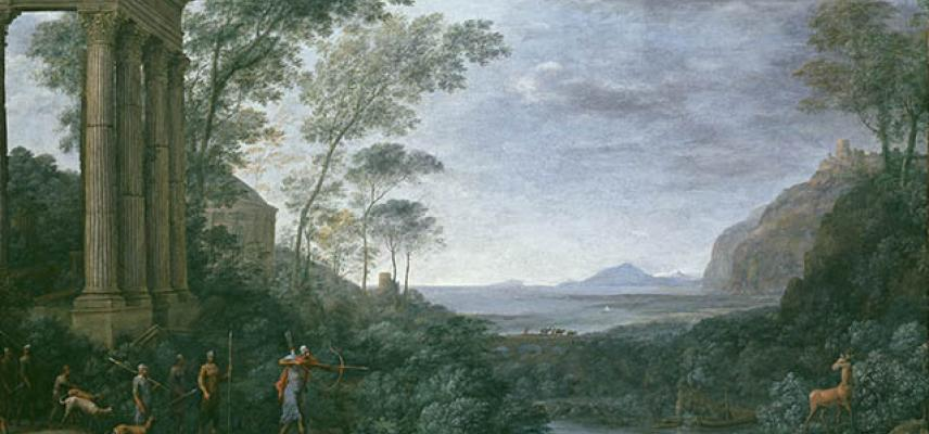 Landscape with Ascanius shooting the Stag of Sylvia (detail) 1681-1682