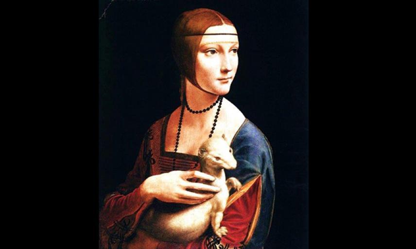 cecilia gallerani lady with an ermine 1483 90 oil wood 55x40 czartoryski mus cracow