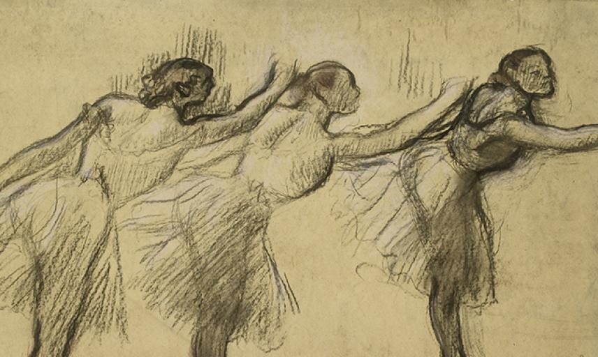 Three Studies of a Ballerina, Degas, wa_1937_23-a