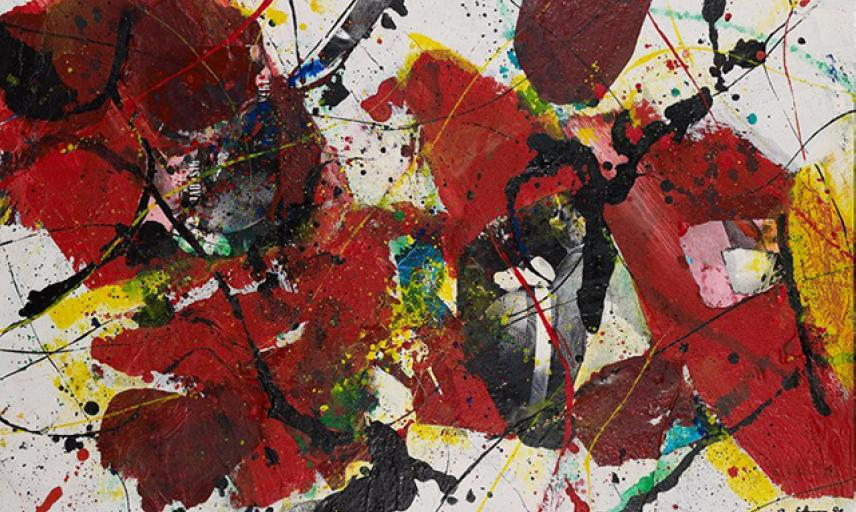 Red Yellow and Black Abstraction