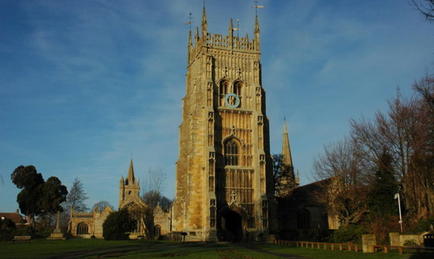 tower of evesham abbey, Photo © Philip Halling