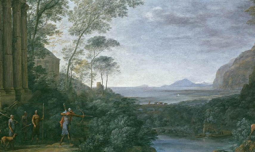 Landscape with Ascanius shooting the Stag of Sylvia by Claude Lorrain (detail)