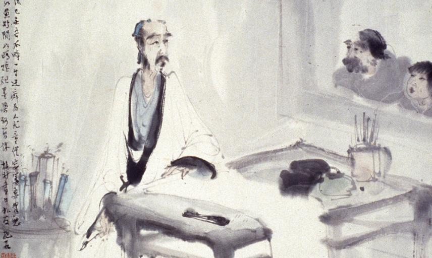 The scholar artist in his studio after Meicun Wu, Fu Baoshi