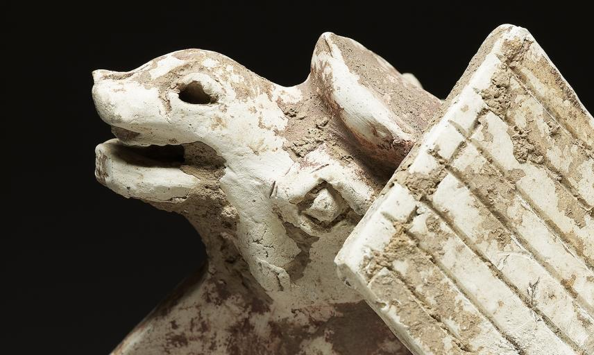 Figure of a camel (detail), China, Tang Dynasty, AD 618-907