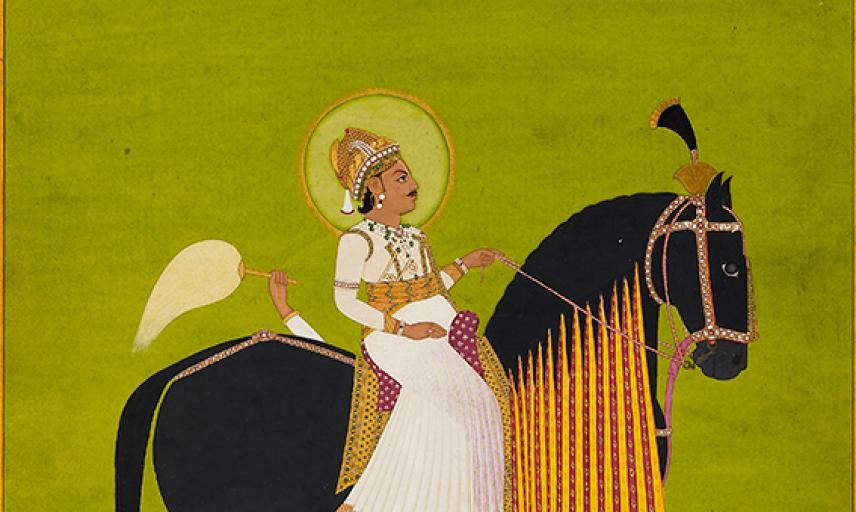 Maharaja Sawai Pratap Singh riding,  Ramji Das,