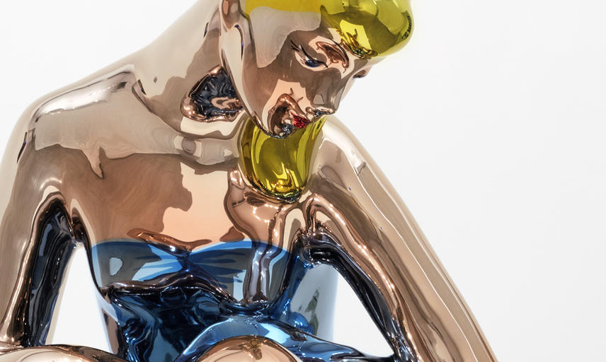 Jeff Koons (b. 1955) – Detail of Seated Ballerina © Jeff Koons