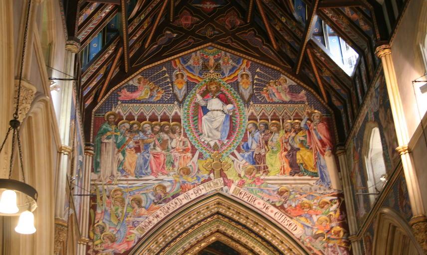 Painted interior decoration of Highnam Church
