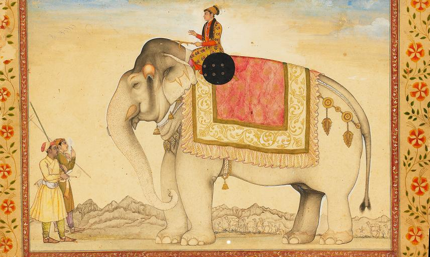The elephant Ganesh Gaj and rider