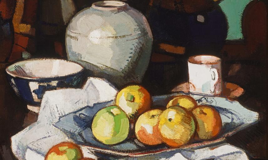 samuel peploe  still life apples and jar  google art project