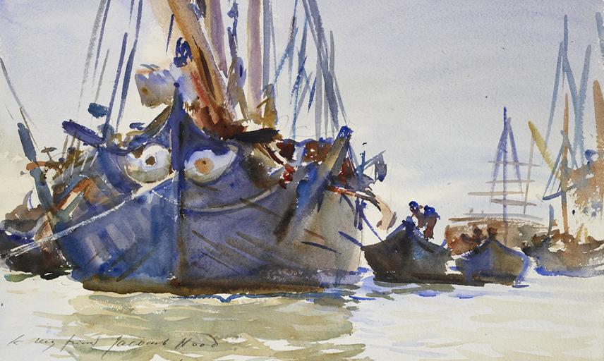 Italian sailing Vessels at Anchor, John Sargent Singer.
