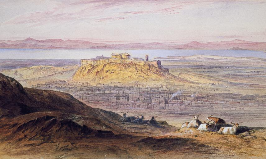 View of Athens, Edward Lear