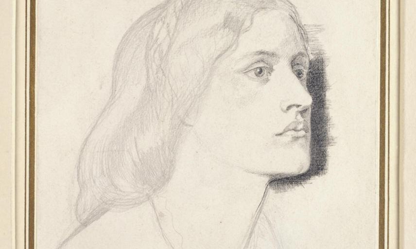 Dante Gabriel Rossetti, Portrait of Miss Ruth Herbert, 1858, WA1943.116