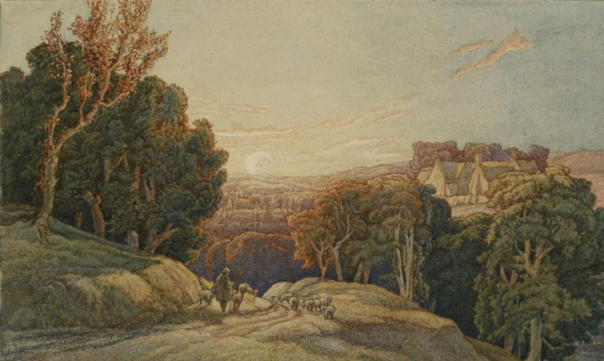 Sunset in the Cotswolds, F.L. Griggs