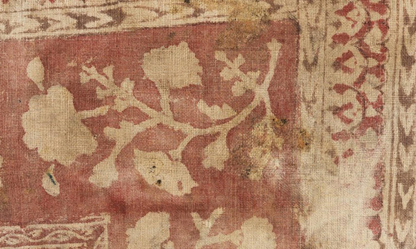 Textile with Printed Flowers