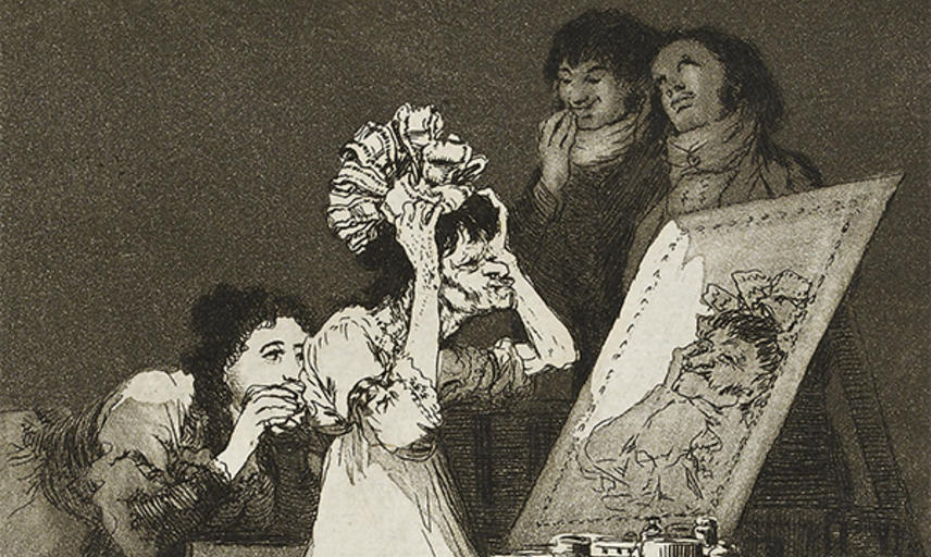 Hasta la Muerte (Until death) by Francisco Goya, 1799