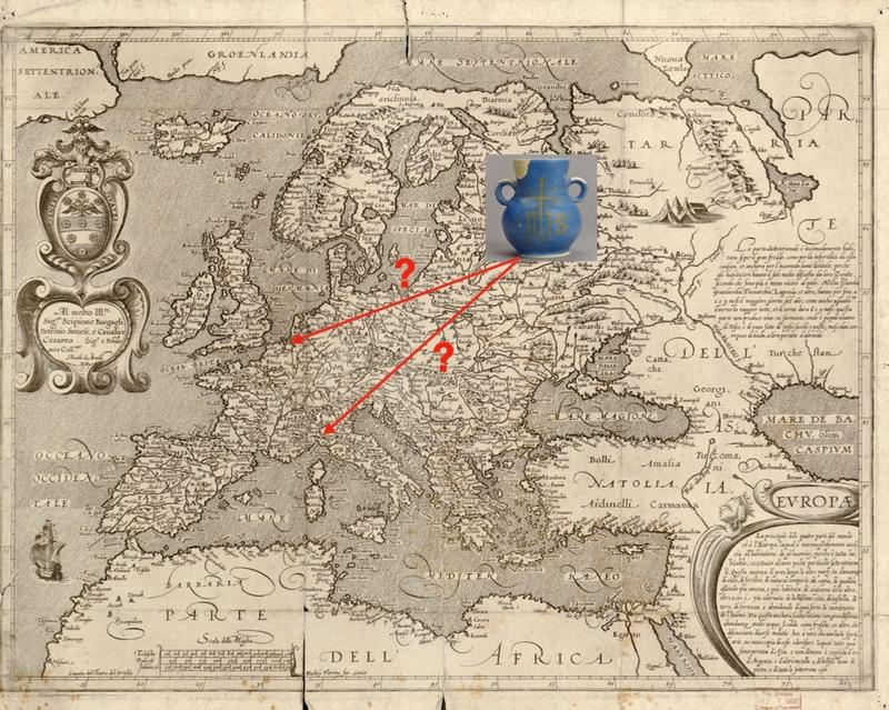 Map of Europae, 1600 by Arnoldo di Arnoldi
