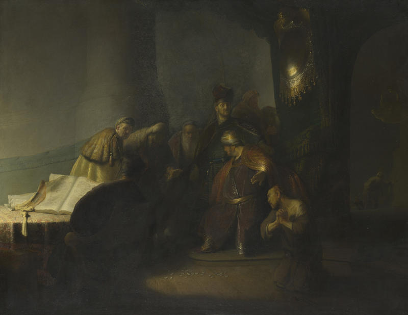 2020 Young Rembrandt Exhibition – Rembrandt, Judas Repentant Returning the Pieces of Silver, 1629 © Private collection