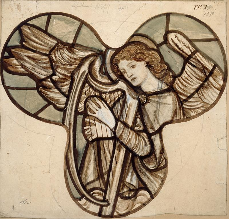 WA1978.120 Angel Harpist, Edward Burne Jones