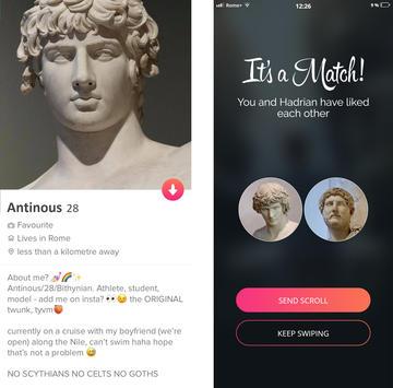 Antinous tinder profile