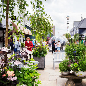 Shoppers at Bicester Village