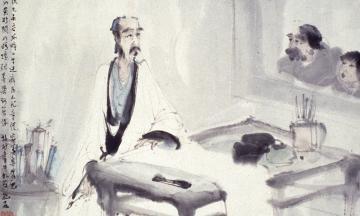 The scholar artist in his studio after Meicun Wu, Fu Baoshi