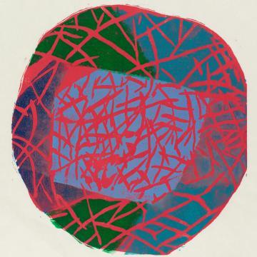 Naoko Matsubara – Lifelines, a colour woodblock print