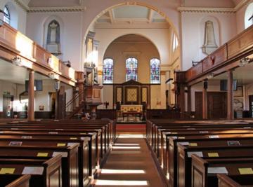 Holy Trinity Church, Clapham; interior looking east
