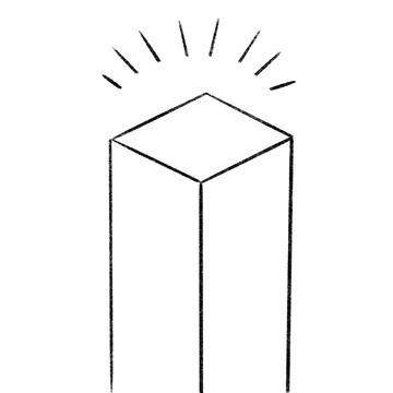 Drawing of empty plinth