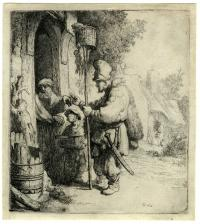 Rembrandt van Rijn (1606 - 1669): The rat catcher at the ashmolean museum