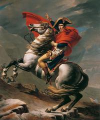 Jacques-Louis David, Napoleon at the Great St Bernard (Vienna)